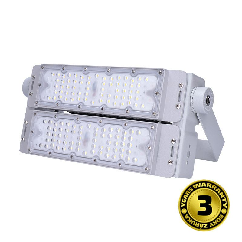 Solight LED vonkajší reflektor Pro + 2, 100W, 13000lm, 5000K, IP65, sivá