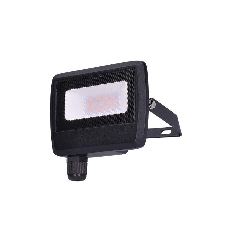Solight LED reflektor Easy, 10W, 800lm, 4000K, IP65, čierny