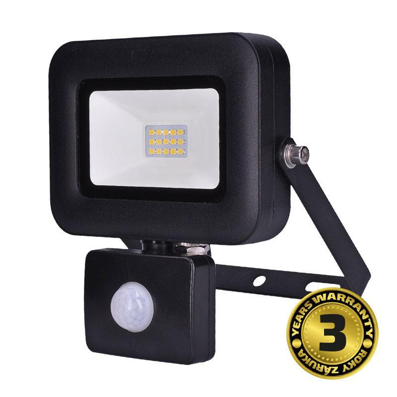 Solight LED reflektor PRO so senzorom, 10W, 850lm, 5000K, IP44