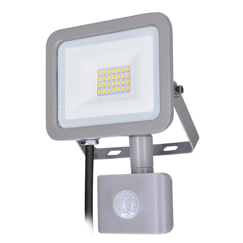 Solight LED reflektor Home so senzorom, 20W, 1500lm, 4000K, IP44, sivý