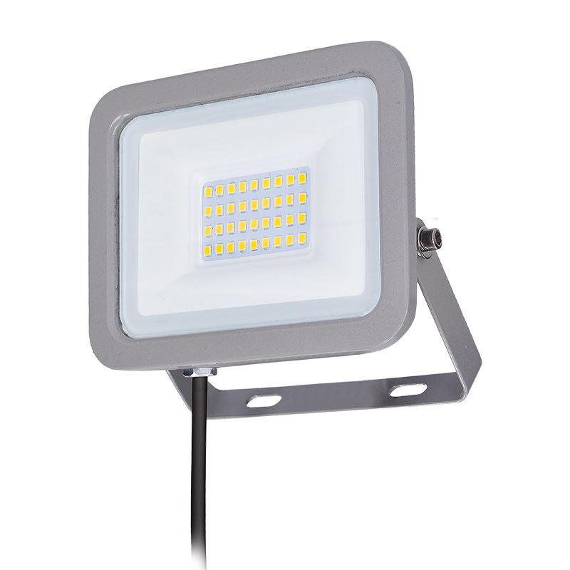Solight LED reflektor Home, 30W, 2250lm, 4000K, IP65, sivý