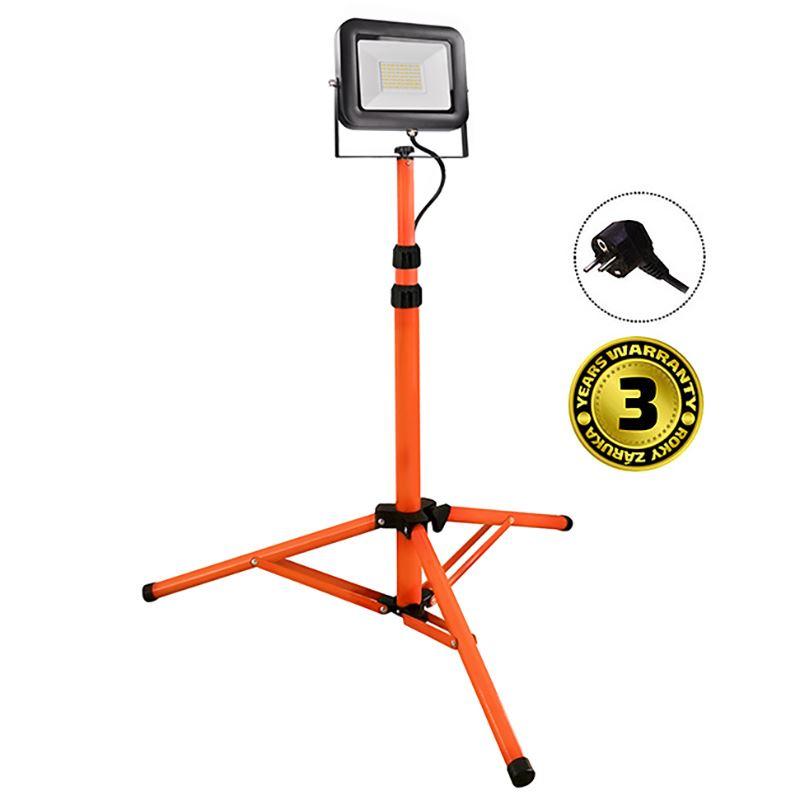 Solight LED vonkajší reflektor PRO s vysokým stojanom, 50W, 4250lm, kábel so zástrčkou, AC 230V