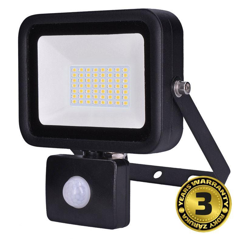 Solight LED reflektor PRO so senzorom, 50W, 4250lm, 5000K, IP44