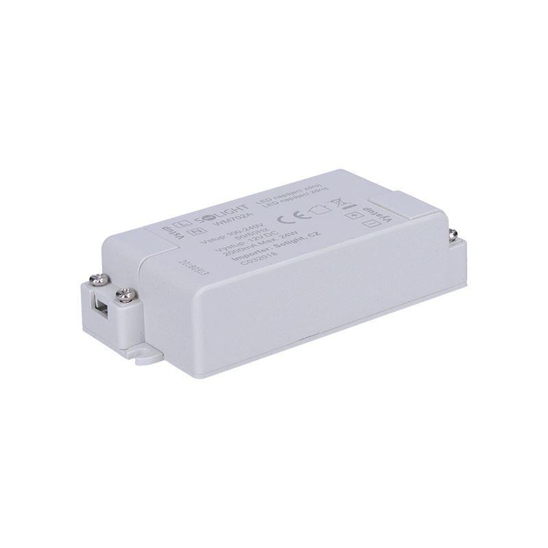 Solight LED napájací zdroj, 230V - 12V, 2A, 24W, IP20