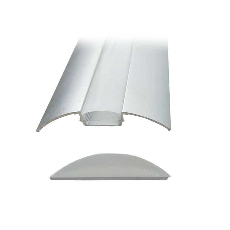 Solight hliníkový profil pre LED pásiky plochý, 51x8mm, mliečny difúzor, 1m