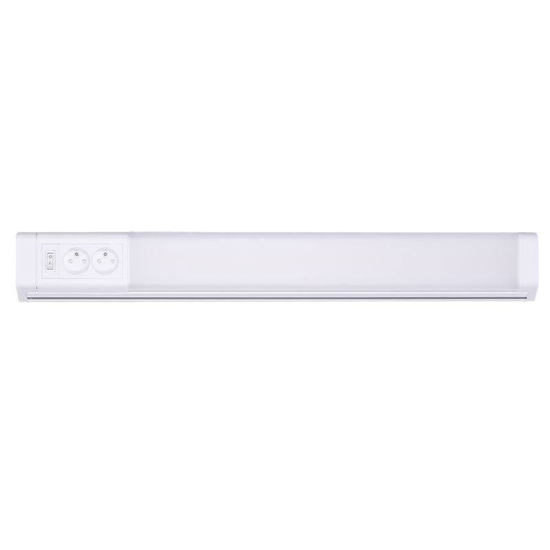 Solight LED kuchynské svietidlo, 2x zásuvka, vypínač, 10W, 4100K, 51cm