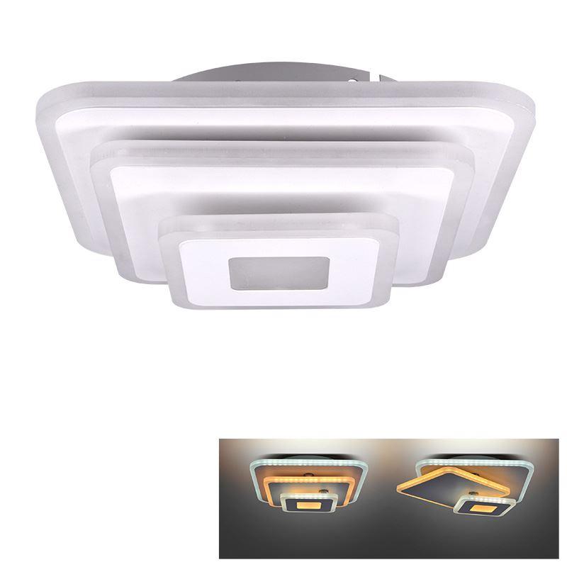Solight LED prisadené svetlo Cascade, malé štvorcové, 30W, 1650lm