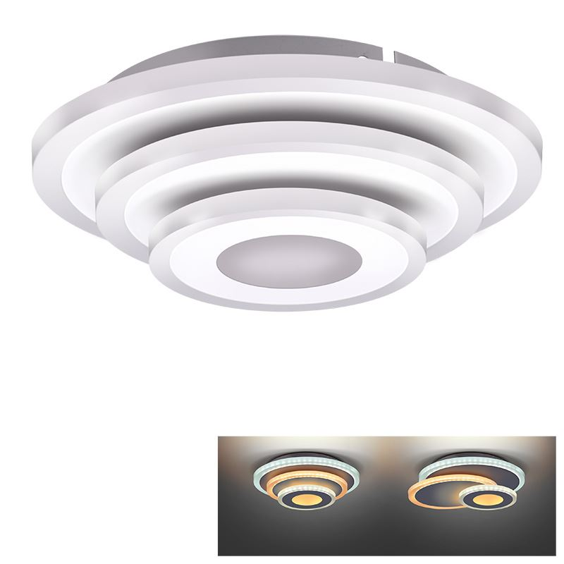 Solight LED prisadené svetlo Cascade, malé okrúhle, 27W, 1485lm