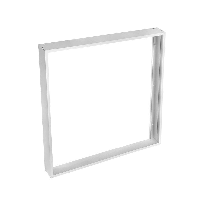 Solight hliníkový strieborný rám pre inštaláciu LED panelov s rozmerom 595x595mm na stropy a steny, výška 50mm