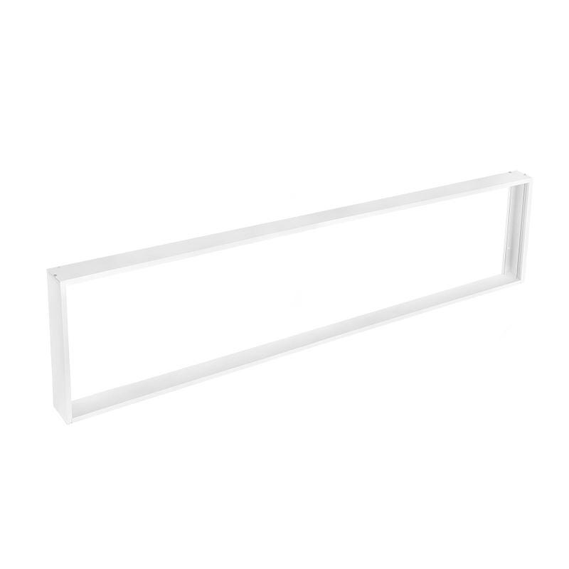 Solight hliníkový biely rám pre inštaláciu LED panelov s rozmerom 295x1195mm na stropy a steny, výška 68mm