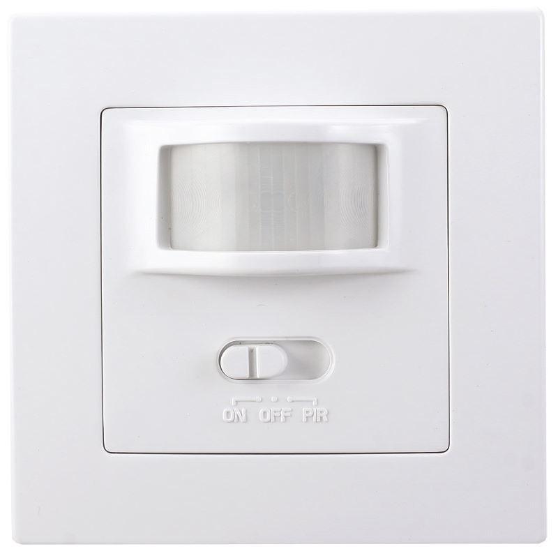 Solight PIR interiérový senzor, do krabičky od vypínačov, funkcia zapnutia-vypnutia senzoru, biely