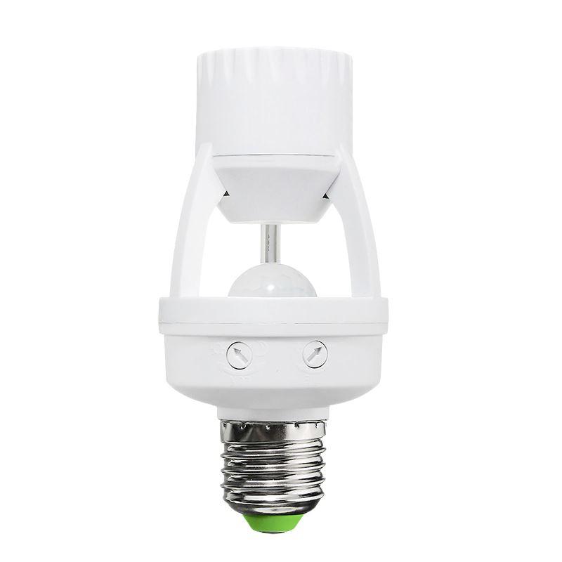Solight PIR senzor pro E27 žiarovku, biely