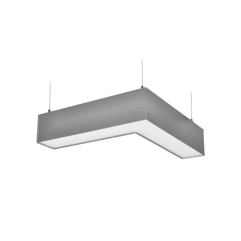 Solight LED lineárne závesné osvetlenie, L konektor, 18W, 1500lm, Lifud, 3 roky záruka, strieborná farba