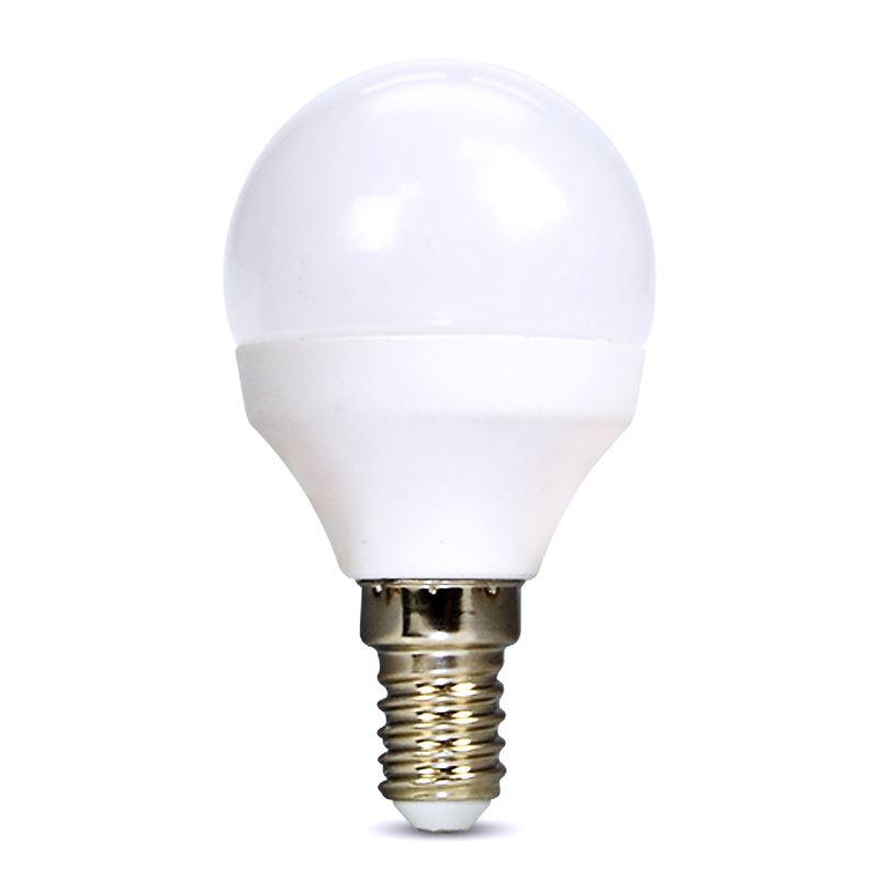 Solight LED žiarovka, miniglobe, 4W, E14, 3000K, 340lm, biele prevedenie